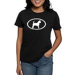 Chihuahua Oval Women's Dark T-Shirt