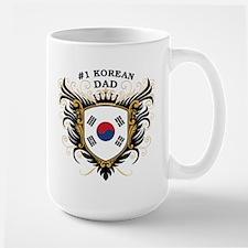 Number One Korean Dad Large Mug