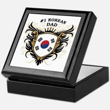 Number One Korean Dad Keepsake Box
