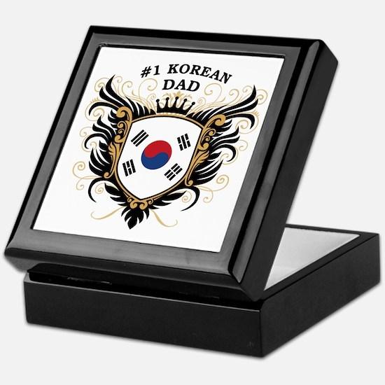 Number One Korean Dad Keepsake Box