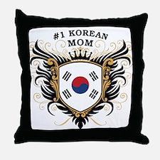 Number One Korean Mom Throw Pillow