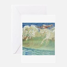 NEPTUNE'S HORSES Greeting Card