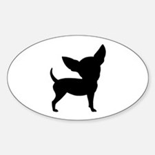 Funny Cute Chihuahua Oval Decal