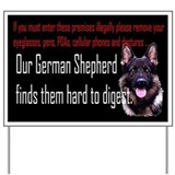 Security german shepherds Yard Signs