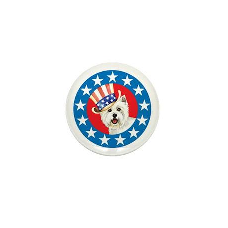 Vote for Westie Mini Button (10 pack)