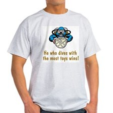 Scuba Funnies for Him Ash Grey T-Shirt