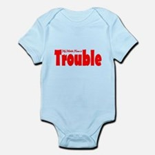 My Middle Name is Trouble Red Infant Bodysuit