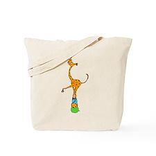 Balancing Circus Cartoon Giraffe Tote Bag
