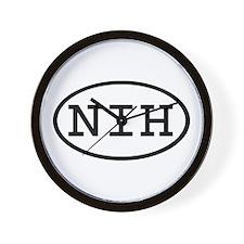 NIH Oval Wall Clock