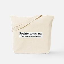 Sophie loves me Tote Bag