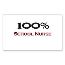 100 Percent School Nurse Rectangle Decal