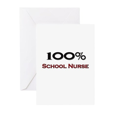 100 Percent School Nurse Greeting Cards (Pk of 10)