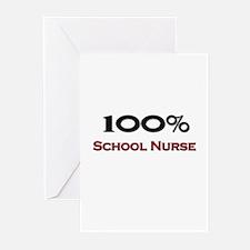 100 Percent School Nurse Greeting Cards (Pk of 10)