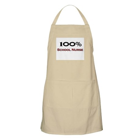 100 Percent School Nurse BBQ Apron