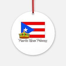 Puerto Rican Princess Ornament (Round)