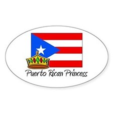 Puerto Rican Princess Oval Decal