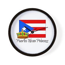 Puerto Rican Princess Wall Clock