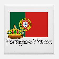 Portuguese Princess Tile Coaster