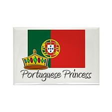Portuguese Princess Rectangle Magnet