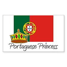 Portuguese Princess Rectangle Decal