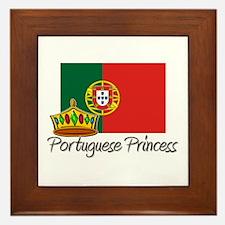 Portuguese Princess Framed Tile
