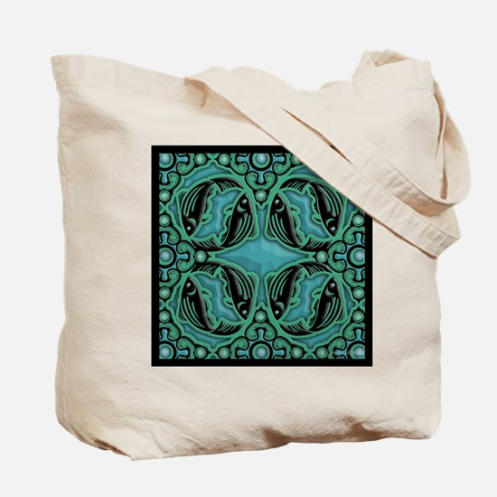 Seasonal Zebrafish Art Tote Bag
