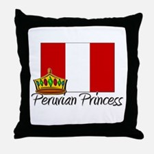Peruvian Princess Throw Pillow