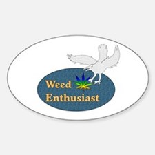 Weed Enthusiast Oval Decal