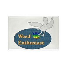 Weed Enthusiast Rectangle Magnet