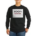100 Percent Sawyer Long Sleeve Dark T-Shirt