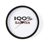 100 Percent Sawyer Wall Clock