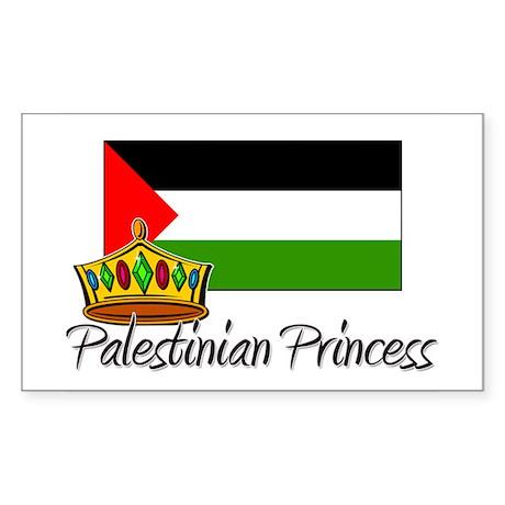 Palestinian Princess Rectangle Sticker