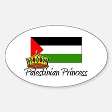 Palestinian Princess Oval Decal