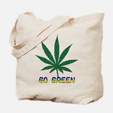 Go Marijuana Green Tote Bag