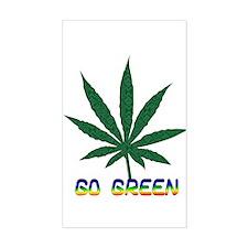 Go Marijuana Green Rectangle Decal