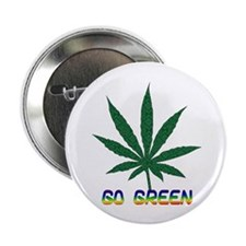 "Go Marijuana Green 2.25"" Button"