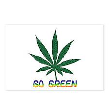 Go Marijuana Green Postcards (Package of 8)