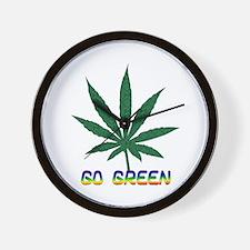 Go Marijuana Green Wall Clock