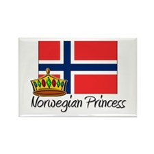 Norwegian Princess Rectangle Magnet