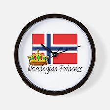 Norwegian Princess Wall Clock