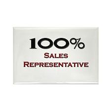 100 Percent Sales Representative Rectangle Magnet