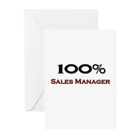 100 Percent Sales Manager Greeting Cards (Pk of 10