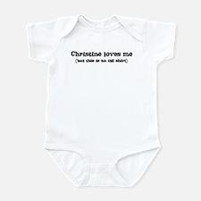 Christine loves me Infant Bodysuit