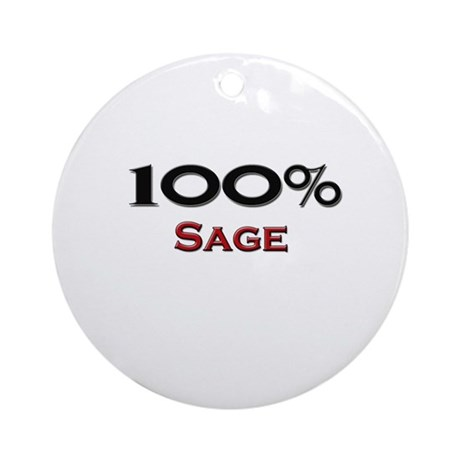 100 Percent Sage Ornament (Round)