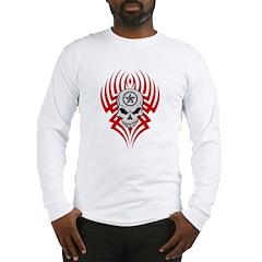 Tribal Skull Long Sleeve T-Shirt