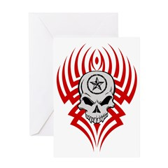 Tribal Skull Greeting Card
