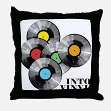 Into Vinyl - Throw Pillow
