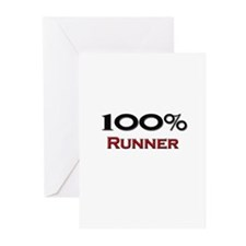 100 Percent Runner Greeting Cards (Pk of 10)
