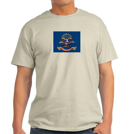 North Dakota Flag Ash Grey T-Shirt