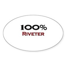 100 Percent Riveter Oval Decal